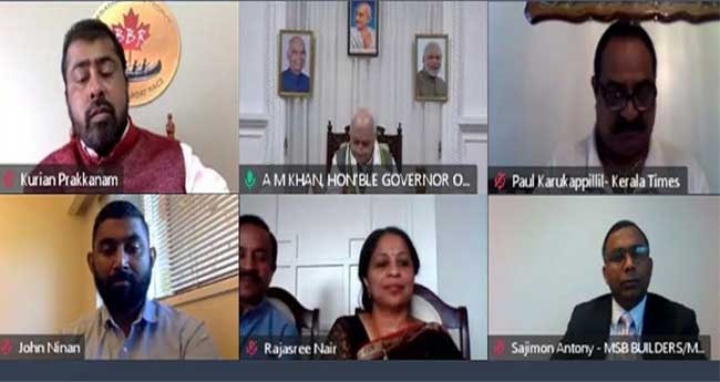 കാനഡയിൽ നിന്നും നേരിട്ട് വിമാന സർവീസ്: ഉറപ്പു നൽകി ഗവർണർ ആരിഫ് മുഹമ്മദ് ഖാൻ